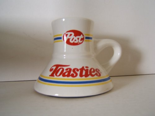 Four Original Post Toasties Mug Travel Cup Cereal Advertising Collectible Vintage From the 1980