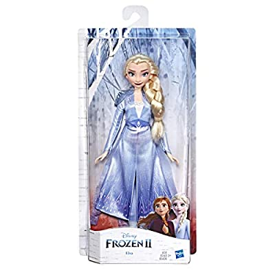 Disney Frozen Elsa Fashion Doll with Long Blonde Hair & Blue Outfit Inspired by Frozen 2 - Toy for Kids 3 Years Old & Up: Toys & Games
