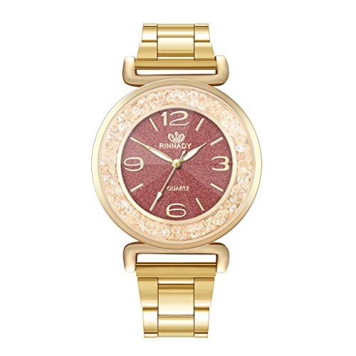 Round Shining Dial (Women Luxury Diamond Quartz Wrist Watch, Women's Luxury Wristwatch Crystal Diamond Stainless Steels Watches for Ladies)