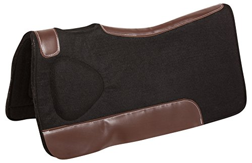 Wither Relief Saddle Pad - BLACK ORTHOPEDIC SHOCK ABSORBING PLEASURE TRAIL WOOL FELT WESTERN HORSE SADDLE PADS WITH MEMORY FOAM 32X29 (HORSE)