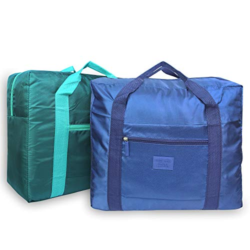 - K.T. Fancy 2 Pack Travel Bag Storage Duffle Bag | Foldable Lightweight Durable | for Travel Sport Gym House