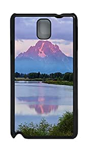 Samsung Note 3 Case Landscapes Mountain Lake 1 PC Custom Samsung Note 3 Case Cover Black