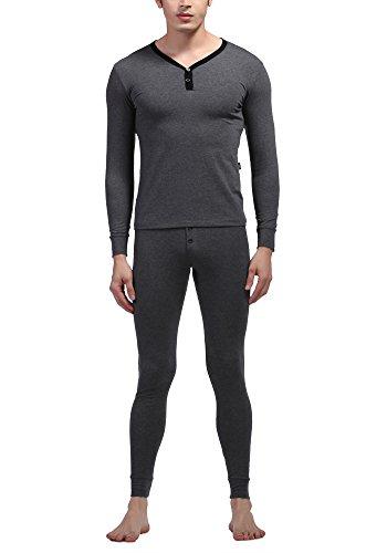 Autumn and winter men's thermal underwear sets(Dark Grey) - 5