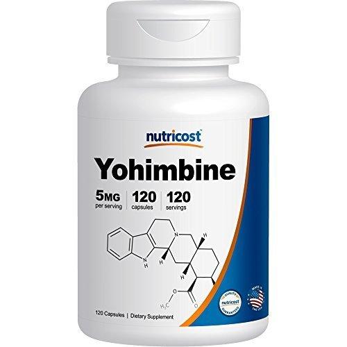 Nutricost de la Yohimbine HCl 5 mg, 120 Capsules Force Supplémentaire