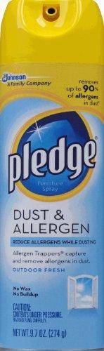 (Pledge Dust & Allergen Furniture Spray, Outdoor Fresh 9.70 oz (Pack of 12))
