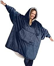 THE COMFY Original   Oversized Microfiber & Sherpa Wearable Blanket, Seen On Shark Tank, One Size Fits