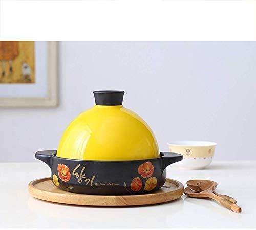 AMYZ Marmite Marocaine de tajine,Casserole en céramique à économie d'énergie,cuiseur de Pot antidérapant Anti-brûlure