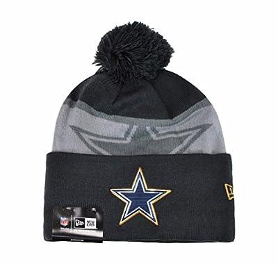 New Era Nfl Hat Cap Dallas Cowboys Beanie Gold Collection Gray / Charcoal Headwear Pom