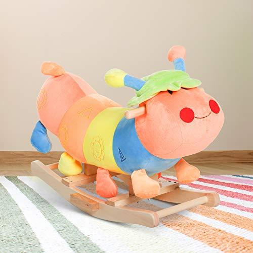 Homcom Kids Rocking Horse Toddler Plush Ride On Toy Child