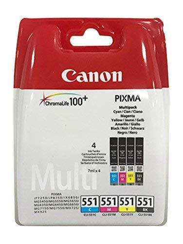 Cartuchos de Impresora Originales para Canon Pixma iP7250/8750, IX6850, MG 5450/5550/5650/6350/6450/6650/7150/7550, MX725/925 Incluye Bolígrafo Multi ...