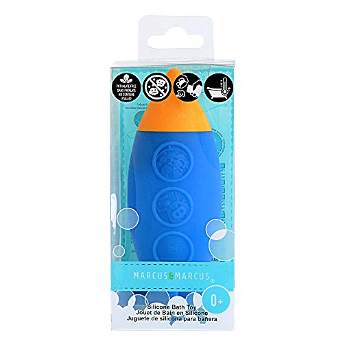 Marcus & Marcus Squirting Baby Bath Toy: Safe Silicone and Mold Free Toy for Bath Time - Rocket Ship