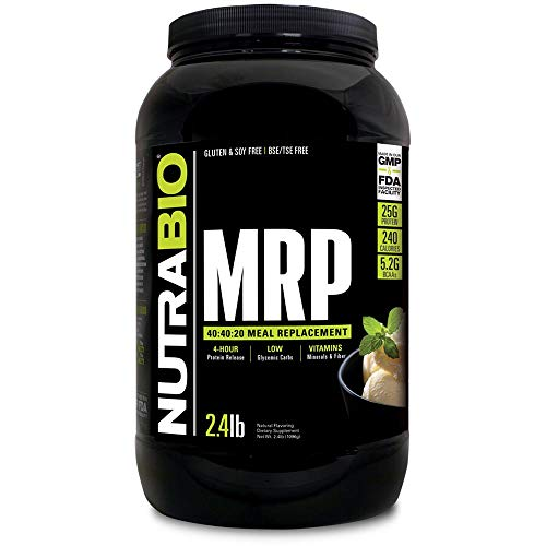 NutraBio MRP Creamy Vanilla Complete Meal Replacement Powder