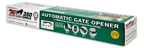 090835003048 - Mighty Mule Automatic Gate Opener for Medium Duty Single Swing Gates for 16 Feet Long or 550 Pounds (FM350) carousel main 1