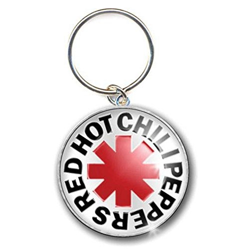 (Red Hot Chili Peppers Keychain Asterisk Logo Official Metal Keyring Silver)