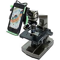 Carson Intermediate 100x-1000x Compound Microscope with Universal Smartphone Optics Digiscoping Adapter (MS-100UN)