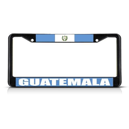 Fastasticdeals Guatemala Flag Black Heavy Duty Metal License Plate Frame Tag Border