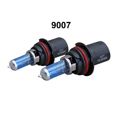WTG 9007 1 PAIR 100W Super White Halogen OEM Headlight Light Bulbs (9007-100w)