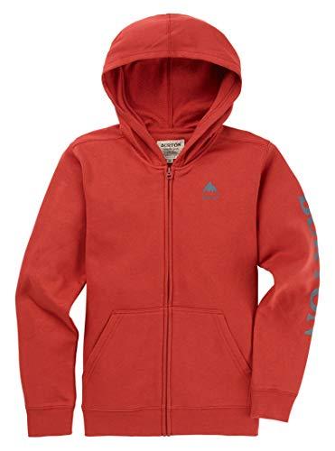 Burton Kids Elite Full Zip Hoodie, Tandoori SS19, Large - Fleece Hooded Jacket Burton