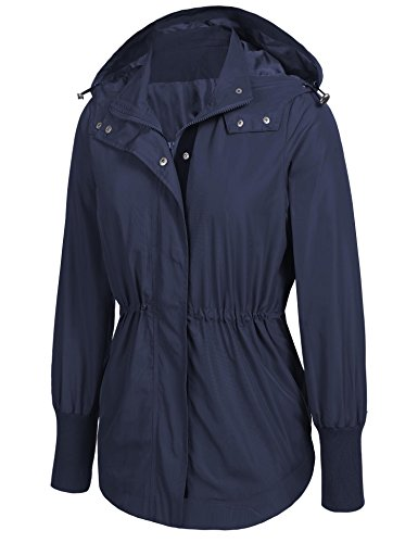para Parka oscuro Modfine mujer azul Chaqueta v1xqwf