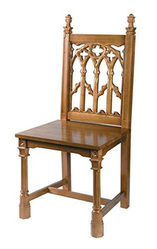 Canterbury Collection Maple Hardwood Side Chair in Medium Oak Finish, 41 Inch by Canterbury Collection