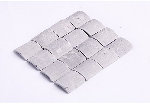 NW 1:16 Roof Tiles Building Set Dollhouse Miniature Tiles Mini Tile Model Building Scene Accessories (70pcs Grey)