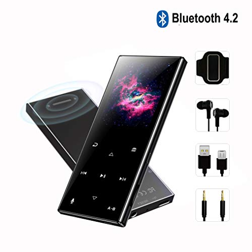 FenQan MP3 Player – MP3 Player with Bluetooth 4.2, Portable Hi-Fi Lossless Sound Music Player with FM Radio Voice Recorder E-Book, Support up to 128GB