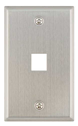 1 Port Stainless Steel - Legrand - On-Q WP3401SS 1 Port Single Gang Wall Plate, Stainless Steel
