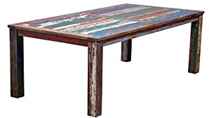 Table Made From Recycled Boats 63 X 35 Inches