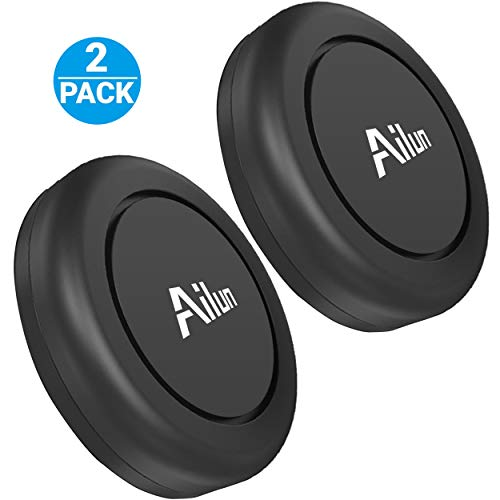 (Ailun Mini Car Phone Mount,Magnet Key Holder,[2Pack] Stick-on Dashboard Magnetic Car Mount Holder,Compatible iPhone X/Xs/XR/Xs Max/8/8Plus,Samsung Galaxy 10s10 Plus,S9/S9+, More)