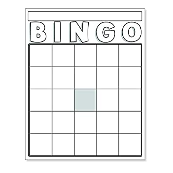 AmazonCom  Blank Bingo Cards Assorted Colors  Sports  Outdoors