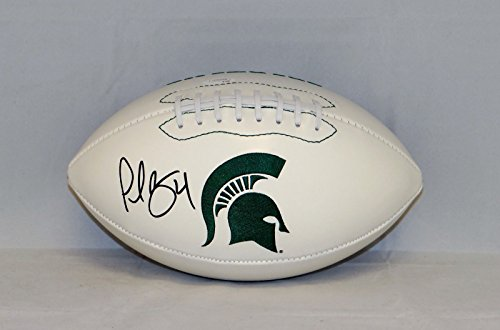 Plaxico Burress Autographed Michigan State Spartans Logo Football- JSA W Auth