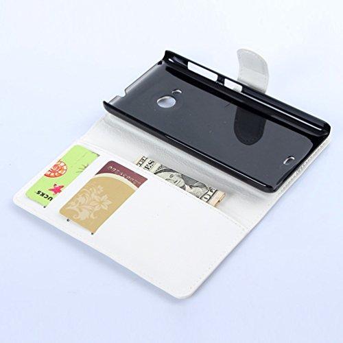 Funda Microsoft Nokia Lumia 535,Manyip Caja del teléfono del cuero,Protector de Pantalla de Slim Case Estilo Billetera con Ranuras para Tarjetas, Soporte Plegable, Cierre Magnético(JFC7-8) G