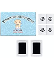 Forever Fun Times No-Touch Pet Paw Print Kit | Get Perfect Dog and Cat Prints Without a Drop of Ink on Your Pet | Fast and Easy Non-Toxic Ink Pad for Pets