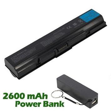 Ordenador portátil/batería BattpitTM para Toshiba Satellite L500-1WG(6600 mAh) con 2600 mAh Banco de energía/Batería externa (negro) para Smartphone.