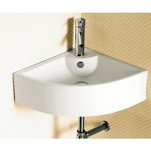 UPC 637509839499, Caracalla Caracalla CA4053-One Hole-637509839499 Ceramic Corner and Wall Mounted Washbasin, White