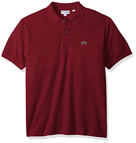 Lacoste Men's Short Sleeve Pique Classic Fit Chine Polo Shirt, L1264, Red Basque Chine, 2