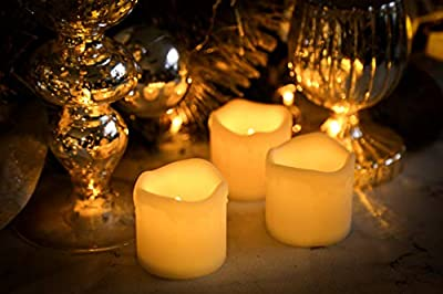 Furora LIGHTING Flameless LED Votive Candles - Battery Operated Melting Style Votives with Realistic Flickering Flame Best for Wedding, Party and Holiday Decoration Ideas