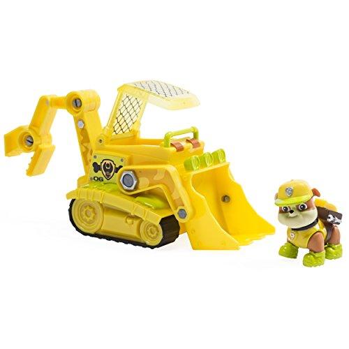 Paw Patrol Jungle Rescue Ruben Et Bulldozer Figurine Et