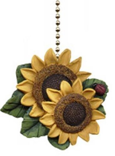 Clementine Designs Sunflower Ladybug Floral Kitchen Ceiling Fan or Light Pull
