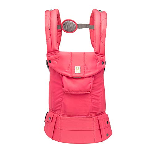 LÍLLÉbaby Complete Original 6-in-1 Ergonomic Baby & Child Carrier, Azalea – 100% Cotton