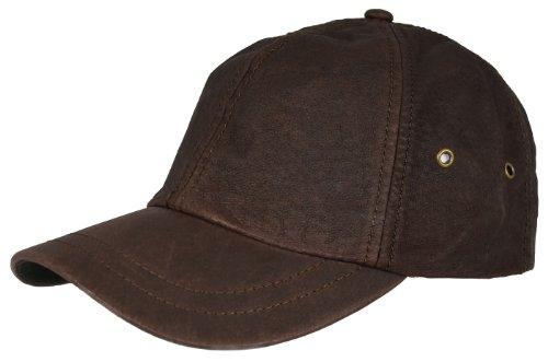 Cobra Stonewashed Leather Baseball Cap