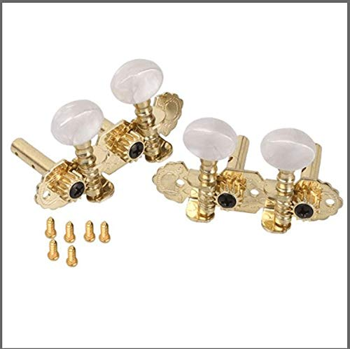 DN 1 Set Mica 2R2L Tuning Pegs Machine Heads For Ukulele Classical Guitar with Round Button