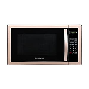 Farberware Classic FMO11AHTBSB 1.1 Cu. Ft. 1000-Watt Microwave Oven, Black Stainless Steel