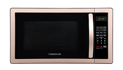 Farberware Classic FMO11AHTBKD 1.1 Cu. Ft. 1000-Watt Microwave Oven with LED Lighting, Copper