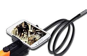 Blueskysea 2 Mega píxeles 720P serpiente 1m Flexible HD 8.5mm WIFI cámara endoscopio Video Recorder Video Vigilancia Inspección Wifi cámara del endoscopio cuello de cisne para Android iOS de Apple iphone 4 iphone 5C iphone 5S Mini iPad ipad 5 ipad Aire con linterna