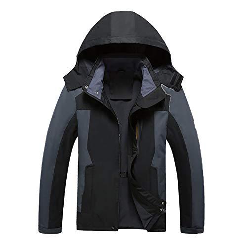 Male Jacket Spring Autumn Waterproof Windproof Jacket Coat Tourism Mountain Jacket Men 8288 Black XXL ()