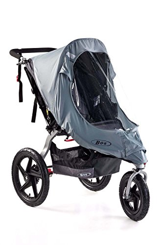 (BOB Weather Shield for Single Swivel Wheel Strollers, Grey)