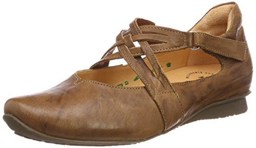 Ballet Strap 282108 lion Think Brun Forstropp kombi Kvinners Synes Ballerinasko Kombi Chilli 55 Flats lion Brown 55 At Women's Chilli 282108 Ankle q0YSqxZ