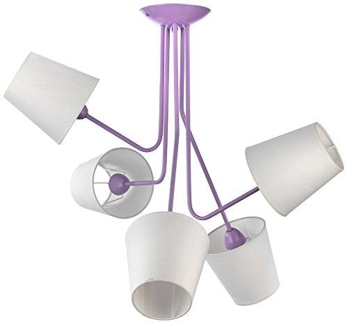onli 4780/PL5 lámpara de techo con brazos E14, 6 W, morado ...