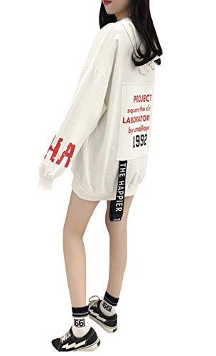 パネルテープアロングEHAME パーカー レディース Tシャツ 長袖 ロング丈 薄手 フード付き 秋 トップス 学生 ゆったり プリント 英字ロゴ カジュアル シンプル 可愛い おしゃれ 個性 大きいサイズ
